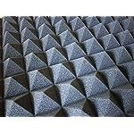 【 SMILE ALL 】 吸音 スポンジ 10枚セット 凹凸 ピラミッド型 加工 ウレタン 50cm × 50cm × 5cm 防音 対策 高性能 高品質 (10)