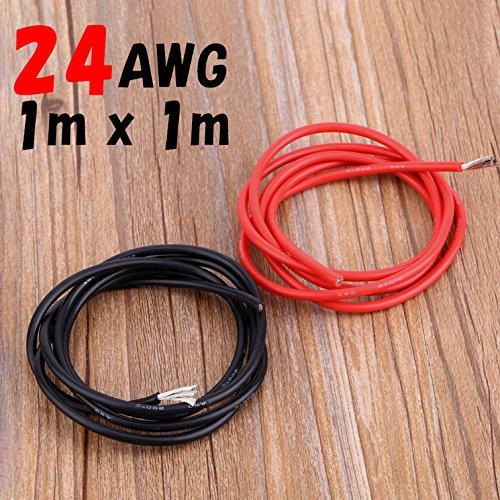 エッサンテ(Essante) 24AWG 赤黒(各1m計2m...