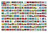 300ピース ジグソーパズル 世界の国旗 (26x38cm)