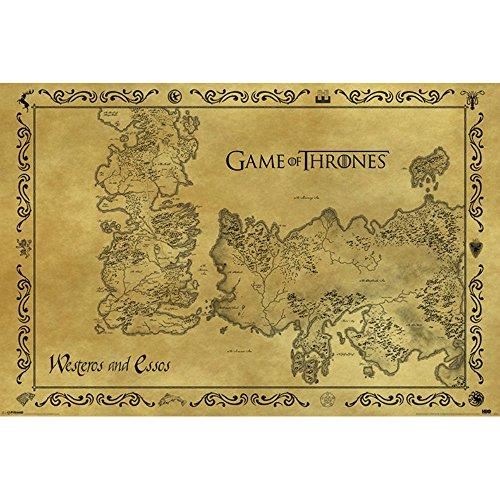 GAME OF THRONES ゲーム・オブ・スローンズ - Antique Map/ポスター 【公式/オフィシャル】