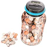 Digital Coin Bank,Money Saving Jar ,Coin Container with LCD,1.8L Large Piggy Bank for Adults,Kids,Girls,Boys,As a Birthday Gi