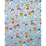 お昼寝布団カバー 85×125 cm 85 125 サイズオーダー 保育園 綿 ファスナー 柄番100ブルー