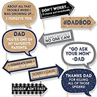 Funny My Dad is Rad - Father's Day Photo Booth Props Kit - 10 Piece