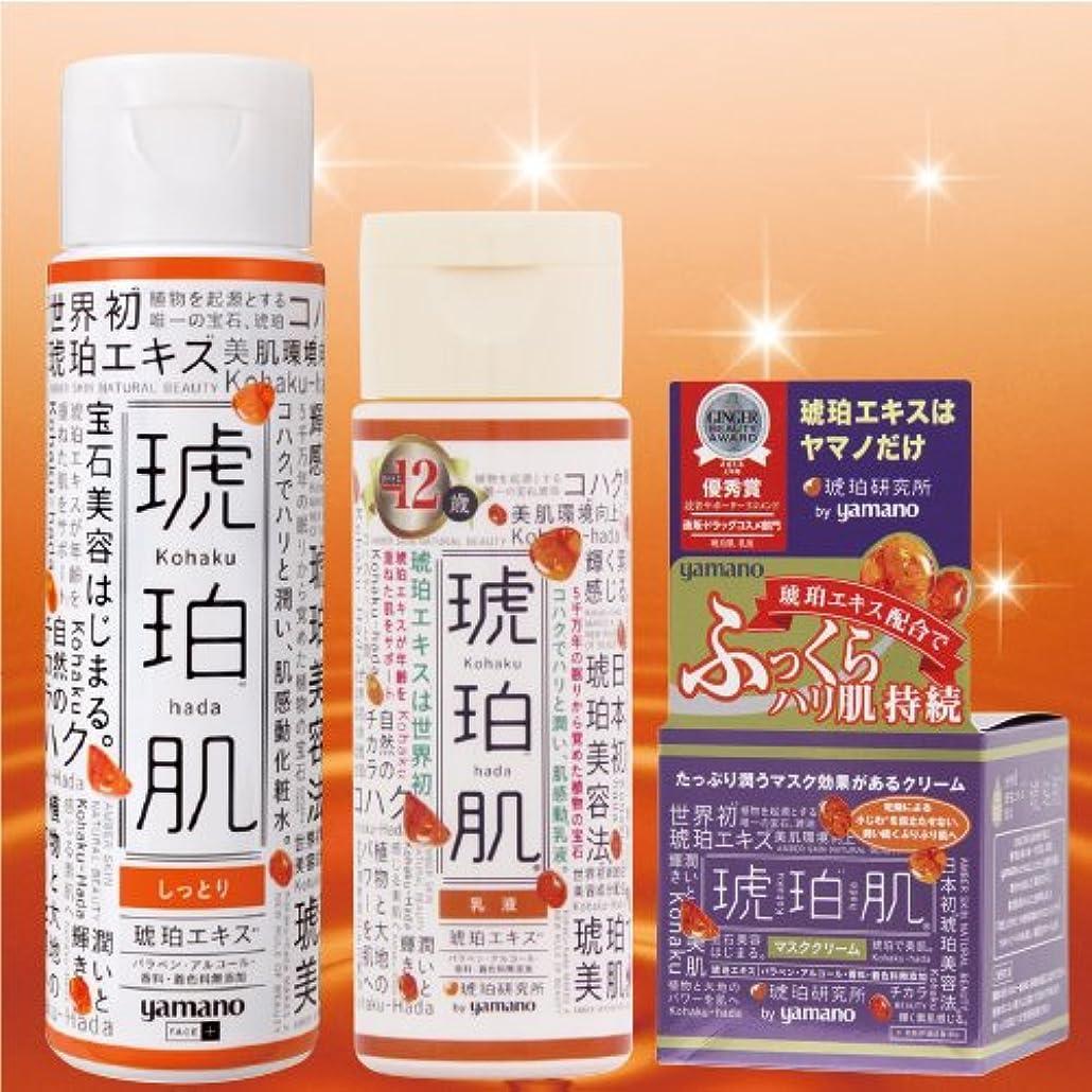 アジテーションフレッシュどれでも琥珀肌 しっとりタイプ3点セット 化粧水 乳液 マスククリーム