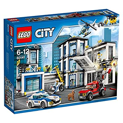 LEGO City Police Station 60141 Building Kit with Cop Car, Jail Cell, and Helicopter, Top Toy and Play Set for Boys and Girls