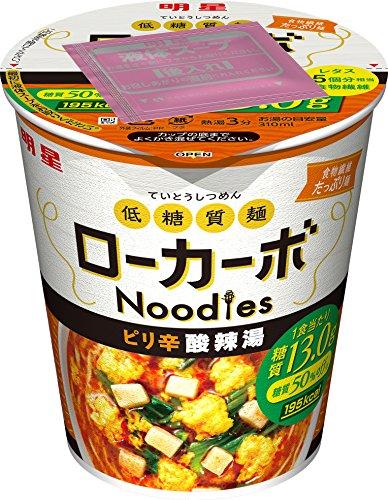 明星 低糖質麺 ローカーボNoodles ピリ辛酸辣湯 59g×12個
