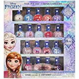 Townley Girl Disney Frozen Non-Toxic Peel-Off Nail Polish Set for Girls, Glittery and Opaque Colors, Ages 3+ - 18 Pack