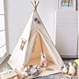 Avrsol Teepee Tent for Kids Foldable Teepee Play Tent Girls and Boys for Indoor Outdoor