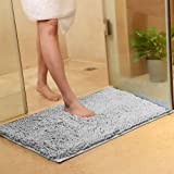 vctops Plush Chenille Bath Rugs Extra Soft and Absorbent Microfiber Shag Rug, Non-Slip Runner Carpet for Tub Bathroom Shower