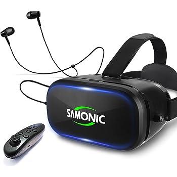 SAMONIC 3D VRゴーグル 「イヤホン、Bluetoothコントローラ付属」(ブラック)