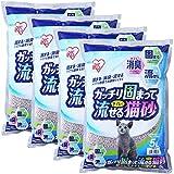 アイリスオーヤマ ガッチリ固まってトイレに流せる猫砂 5L×4袋 (まとめ買い)