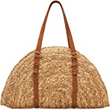 San Diego Hat Company Women's Woven Straw Crescent Shaped Bag