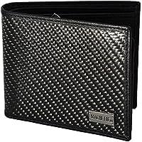 Genuine MACHETTE® Sport CARBON FIBRE Men's Wallet Tri-fold RFID Block- GIFT BOX Leather Aerospace Black Carbon Fiber