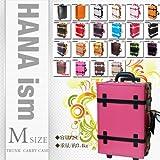 【HANAism - Mサイズ】★かわいいトランクキャリーケース (ピンク×ブラック)