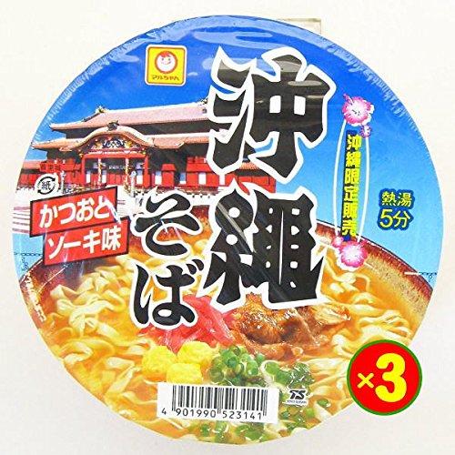 マルちゃん 沖縄そば かつおとソーキ味 88g×3