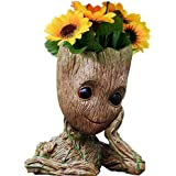 Baby Groot Planter Pot, The Galaxy Action Figures Baby Groot Flowerpot Succulent Planter Pen Holder Cute Green Plants for Hom