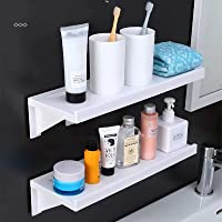 Susuba 吸盤 粘着式 浴室用ラック ホワイト約38.5×14×9cm 壁 棚 洗面所ラック ホルダー 収納ラック…