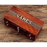 [ストアIndya]Store Indya Christmas Gift Holiday Games Collectible 4 in 1 Chess Set, Checkers, Nine Morris & TicTacToe Indoor Board Games [並行輸入品]