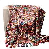 西欧北欧スタイル 寝具 ベッドカバー テーブル ソファー 膝掛け ブランケット マルチカバー
