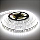 (Cold White Strip) - LEDENET Cold White 5M Double Row 3528 SMD 1200LEDs Flexible Strip Tape Light 240LEDs/M Ribbon Lamp DC 12