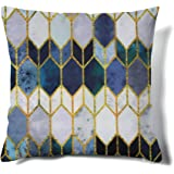 MACOFE Throw Velvet Pillow Covers Decorative Pillowcase Printed Pattern Soft Cushion Covers for Sofa Bedroom Car Outdoor Couc