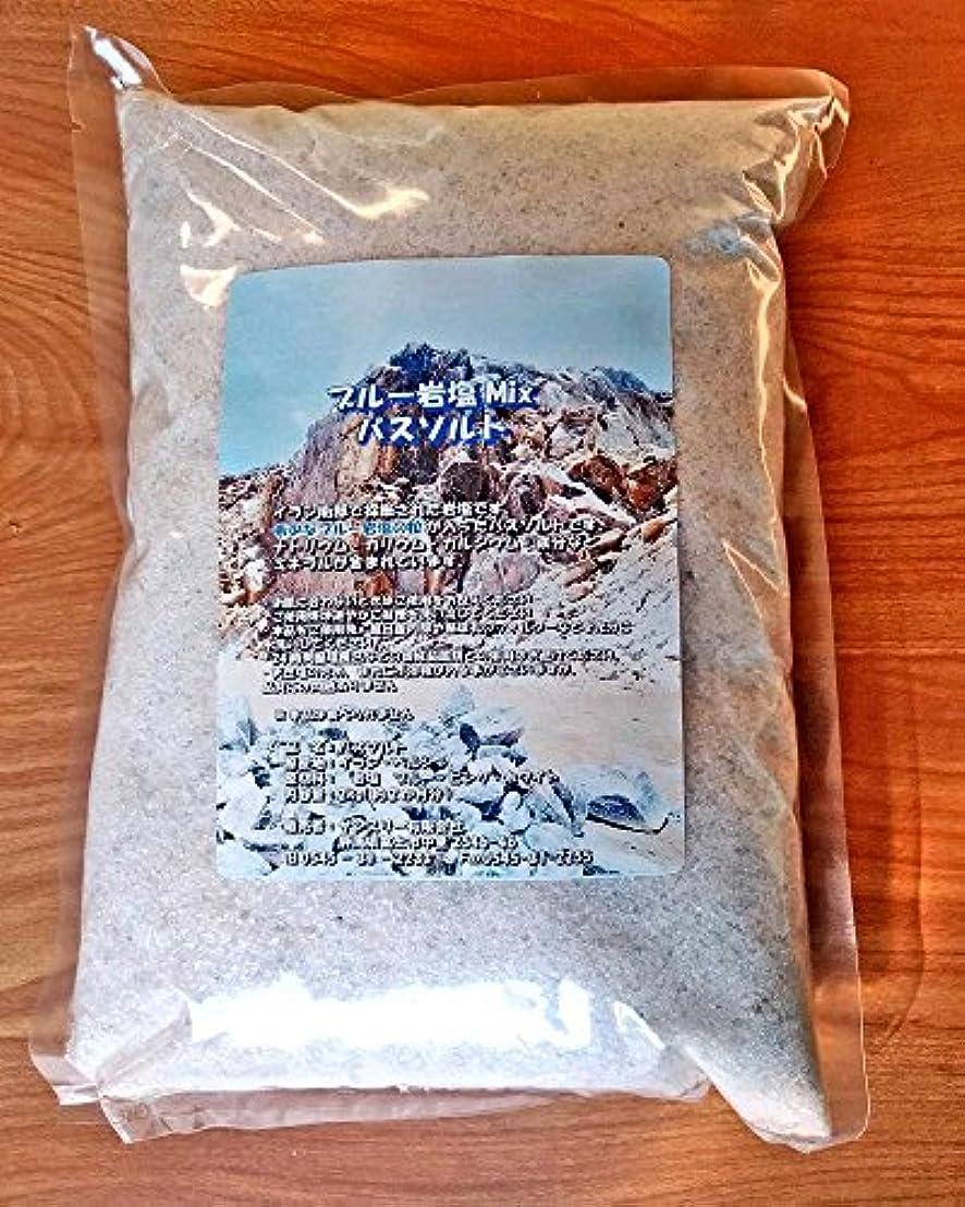 観察する三バッチブルー岩塩Mixバスソルト2kg