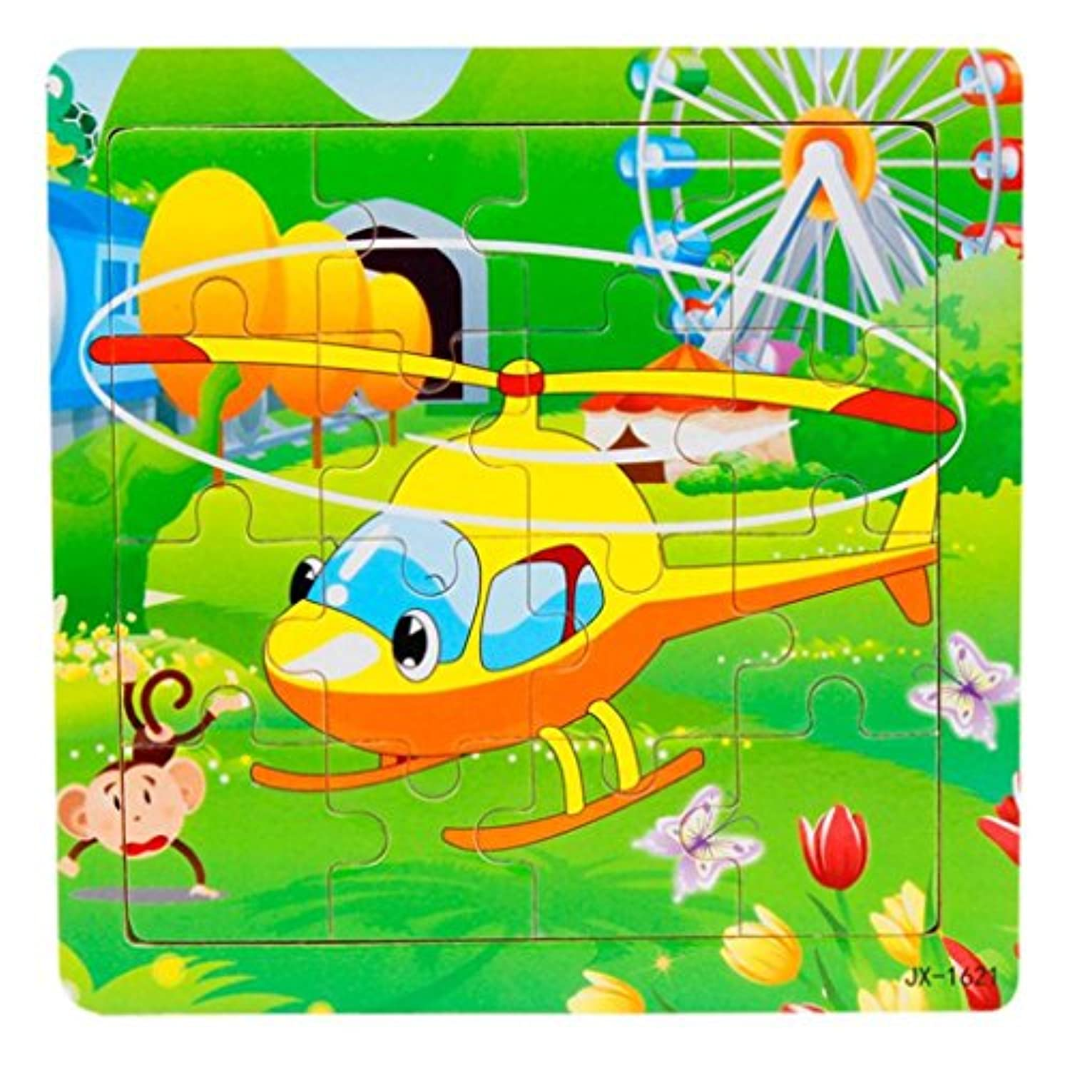 elevin ( TM ) 16 Piece Baby Kid Child Wooden Jigsaw Toys For Kids教育と学習Developmentalパズルゲーム玩具ギフト