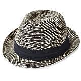 (エッジシティー)EdgeCity 折りたたみ可能! 大きいサイズ 大きい メンズ レディース 麦わら帽子 ストローハット 3L/65cm 000319-0097-65