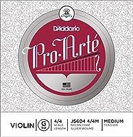D'Addario ダダリオ バイオリン用 バラ弦 Pro・Arte G線 J5604 4/4M Medium Tension 【国内正規品】