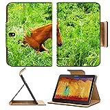 Samsung Galaxy Tab Pro 10.1タブレットフリップケースHorse Sit On The Grassイメージ20401822by MSDカスタマイズされたプレミアムデラックスPUレザー世代アクセサリHD WiFi luxuryプロテクター ZXABAQaCtA_HORSE SIT ON THE GRA_757