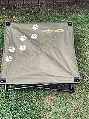 Best Raised Dog Bed | Durable Small Pet Bed | Elevated Washable Dog Bed for Indoor and Outdoor Use | No Assembly Required | Portable Transportable and Storable | Free Canvas Carry Bag.