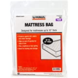 """U-Haul Twin Mattress Bag - Moving and Storage Protection for Mattress or Box Spring - 87"""" x 39"""" x 10"""" Bag"""