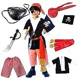 ハロウィン キッズ パイレーツ 海賊 仮装  コスプレ衣装  よくばりセット