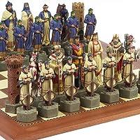十字軍Chessmen & Astor Placeボードfrom Spain Extra Large、キング: 6 7 / 8