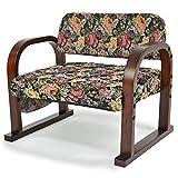 立ち上がりラクラク 優しいお座敷座椅子 「みやび」 (高さ3段階調節) ゴブラン織り 天然木製 フラワー柄 (2)