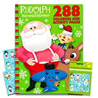 Rudolph the Red-Nosed Reindeer Giant Colouring Book with Stickers (224Pages)