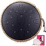 スチール舌ドラム15冊のノート13インチハーモニックHandpanドラム、打楽器、トラベルバッグ付きタンクドラムチャクラ瞑想、ヨガのためのドラムと禅