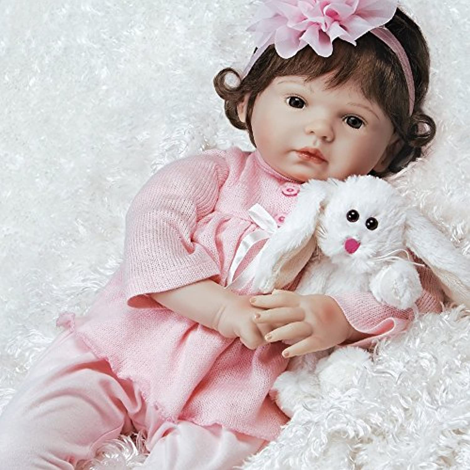 Paradise Galleries Realistic & Reborn Like Baby Doll in Silicone-Like FlexTouch Vinyl - Bunny Love, 20 inch