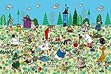 ジグソーパズル ムーミン お花畑のピクニック 1000ピース (50x75cm)