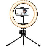 リングライト 女優ライト 自撮りライト 撮影用ライト ledリングライト【外径10inch*3色モード*10段階調光*U…