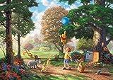 西洋絵画 ディズニー クマのプーさん 42x30cm トーマス キンケード Winnie the Pooh [並行輸入品]