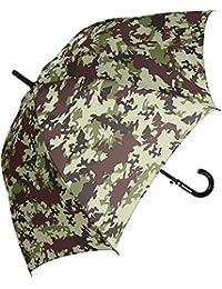 男の子 キッズ傘 60cm 子供用 ジャンプ傘 グラスファイバー カモフラージュ