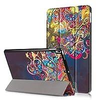 iPad mini4ケース[DUSS]薄型 軽量 カラーパターン 高級PUレザーソフト スマートカバー 三つ折り スタンド スマートキーボード対応 キズ防止 指紋防止自動スリープ/ウェイクアップ機能付き ipad mini4専用対応 -マジック・ツリー