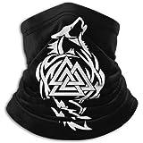 Odin Thor Viking Tribal Norse Wolf Valknut Unisex Bandana Face Mask Warmer Neck Tube for Dust Wind Sun Protection