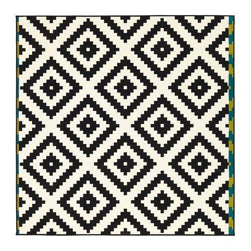 IKEA(イケア) LAPPLJUNG RUTA 60227901 ラグ パイル短, ホワイト, ブラック