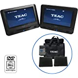 TEAC DVP902T 9IN Twin Screen in CAR Portable DVD Player, Black