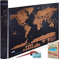 ワールドマップポスター| Scratch Off旅行マップwithマップの世界