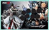 鉄拳 7 フェイスプレート ホワイト (VEWLIX レイアウト) (マッドキャッツ ファイトスティック TE2 TE2+ 対応)