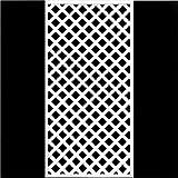 ホワイト格子ラティスフェンス 1800×900mm(木製) 目隠しフェンス DIY 園芸 ガーデニング 旭興進株式会社 JJ PROHOME