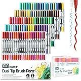 Litchi 水性ペン 蛍光ペン カラーペン 水彩ペン マーカーペン サインペン 塗り絵 学習用(100色)
